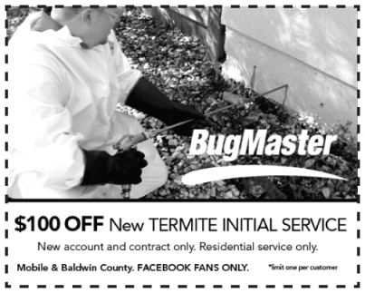 $100 Off New BugMaster Termite Service Coupon
