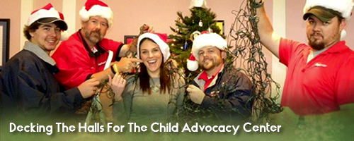 Decking The Halls For The Child Advocacy Center